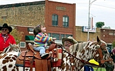 We Love a parade and the whole community gets involved in the fun, from the wee ones to Pawnee Bill (Wayne Spears) and His horse Wye!